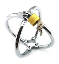 Bondage Fetish BDSM Cross Metal Wrist Restraints Handcuffs