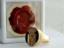 """Seal"" hand engraving by the Master Engraver, engraved on to your signet ring"