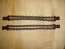 DOUBLE ROW HEEL SPUR CHAINS WITH HANGERS CHAIN SOME RUST