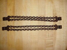 DOUBLE ROW HEEL SPUR CHAINS WITH HANGERS CHAIN PARTLY RUSTY NICE