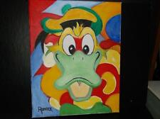 Pop Art - Psychedelic Duck by Rodster ON SALE 11x14 Original oil painting