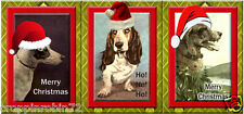 9 CHRISTMAS DOGS (48) SCRAPBOOK CARD EMBELLISHMENTS HANG GIFT TAGS
