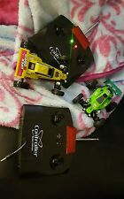 HIGH SPEED SUPER RODEO KART RACER WITH RADIO CONTROLLERS, YELLOW AND GREEN