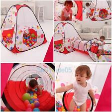 3 in1 Kids Portable Ocean Ball Pit Pool Baby Kid Play House Tent Tube Tunnel Toy