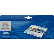 Winsor & Newton Cotman Watercolour 24 Half Pans Metal Box