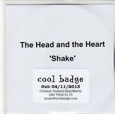 (EQ364) The Head And The Heart, Shake - 2013 DJ CD