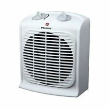 PORTABLE FAN HEATER Small Compact Electric Space Heating Room Home Office White