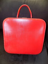 Large 50s 60s vintage red vanity case weekend train case Mod Scooter