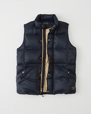 NWT 2016 Abercrombie & Fitch Men A & F Down Quilted Puffer Vest Jacket Navy M