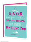 Brainbox Candy birthday greeting cards funny cheeky joke humour sister sis poo
