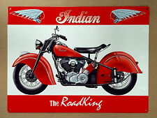 Indian The RoadKing - Tin Metal Wall Sign