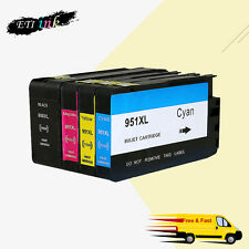 4PK 950XL 951XL Ink Cartridge For HP OfficeJet Pro 8100 8600 8610 8615 8620 8625