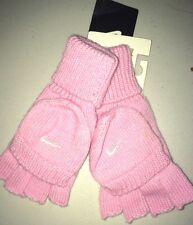 NUOVO Nike GIRLS Rosa i guanti di lana 6-8 anni Autentico