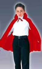 """Cape RED Vampire 27"""" Long - CHILD Fancy Dress Costume One size fits most - Nylon"""
