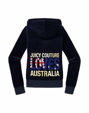JUICY COUTURE DESTINATIONS LOVES AUSTRALIA REGAL VELOUR HOODIE S 8 10 £130!