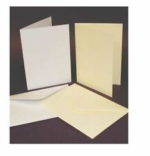 25 x C5 WHITE BLANK CARDS 300gsm & ENVELOPES 100gsm CARD MAKING CRAFT 297