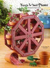 FERRIS WHEEL PLANTER PLASTIC CANVAS PATTERN INSTRUCTIONS ONLY FROM A BOOK