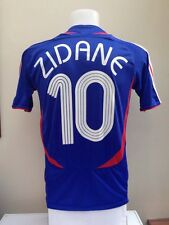 France Football Shirt Jersey ZIDANE Medium M 2006 World Cup Home Madrid