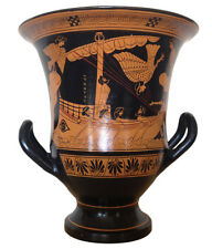 Ancient Greek Odysseus and Sirens Iliad Krater Vase Museum Replica Reproduction