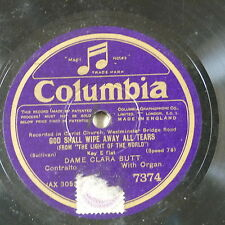 "78rpm 12"" CLARA BUTT god shall wipe away all tears / abide with me"