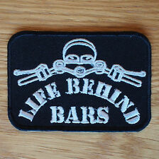 Motorcycle Biker Cloth Patch Badge Leathers Waist Coat Denim LIFE BEHIND BARS
