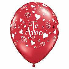 "10 pc 11"" Te Amo Red Latex Balloons Party Decoration Quiero Love You Valentine's"