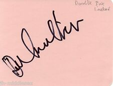 Danielle Bux Lineker Autograph - Signed Page - Hand Signed and Genuine - AFTAL