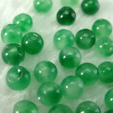 100pcs 6mm Green Jade stone bead Round beads ,Bracelets Necklace DIY Fitting