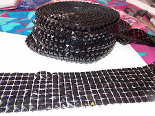 8 Row black stud Diamonte Crystal Effect Rhinestone Cake Decoration Ribbon Mesh