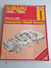 Haynes Repair Manual 1980 thru 1989 Subaru 1600 & 1800