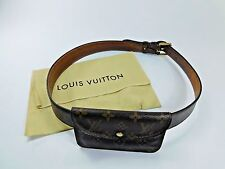 Louis Vuitton Monogram Leather Belt 100/40 Pouch Fanny Pack Waist Hip Bag VB152