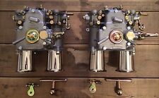 (2x) 45 DCOE Twin carburettor with Inlet funnel BMW Fiat Alfa Romeo Lancia Weber