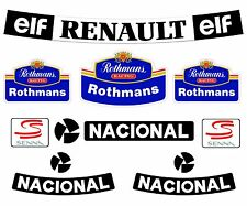Senna F1 Helmet Full Size Rothmans Sticker Kit Full Size Helmet 1.1 Bell M3 Arai