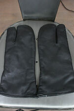 vintage leather guantlet gloves 60's pilots motorcycle 1967 black military