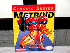 Nintendo Nes METROID CLASSIC YELLOW  Box Cover Photo Poster 8.5x11 Game Room