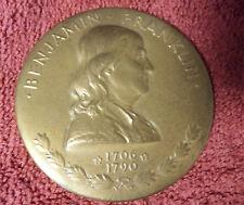 Benjamin Franklin Philosophy,Literature,Science and Patriotism Medal