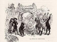 ROBIDA LA FETE DU DIRECTEUR IMAGE 1884 PRINT
