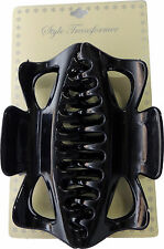 2 Style Transformer Black Large Jaw Clip Jumbo Hair Claw Clamp Accessories New