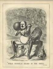 1854 Czar Nicholas Shell To Ear Hears Cheers For His Defeat Satire