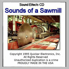 SOUNDS OF A SAWMILL SOUND EFFECTS CD FOR MODEL RAILROADS