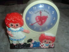 Working Collectible Raggedy Ann Andy Janex Wind-Up Talking Alarm Clock.��