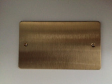 MK Edge K14329 BBR 2 Gang Blank Wall Plate Double Brushed  Brass