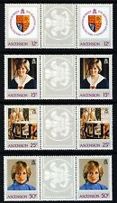ASCENSION 1982 Princess of Wales 21st Birthday PAIRS SG 322 to SG 325 MNH