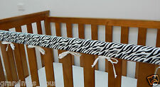 Baby Cot Rail Cover Crib Teething Pad - Zebra Print - ***REDUCED****