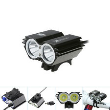 SolarStorm 5000 LM 2x CREE T6 LED Front Bicycle Light Bike Headlight Only Light