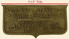 A. SCHRADER SON DIVING HELMET AIR PUMP BRASS EQUIPMENT DIVING APPARATUS PLATE!