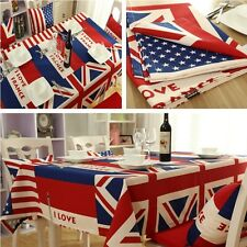 Tablecloth Dining Kitchen Table Cover Protector Cloth Flag Type Home 70*70CM