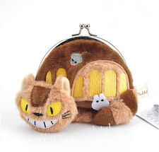 Studio Ghibli Totoro Cat Bus Soft Plush Coin Purse Handbag