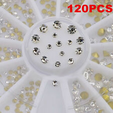 120pcs 3 Size 3D Nail Art Rhinestones Glitter Diamond Gems Tips Decoration Tool