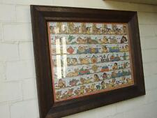 Vintage Balinese Art CALENDAR( Palintagan) Painting on Canvas Carved Frame 70.s